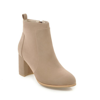 Autumn and Winter New style Short Tube Martin boots (Beige)