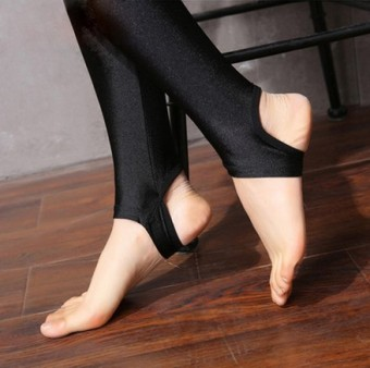 Autumn and Winter outerwear high-waisted fitness Pants pants (Stepping thin)