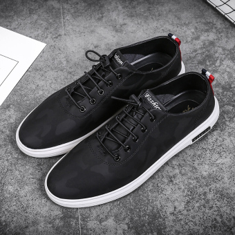 Autumn Fashion casual shoes New style men's shoes (Black)