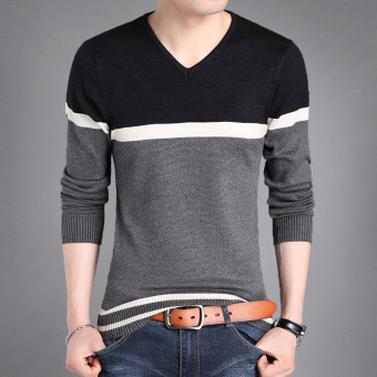 Autumn men's long-sleeved t-shirt (8903 gray)