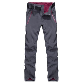 Autumn Men's Thick Thermal Waterproof Windproof Outdoor HikingCamping Cycling Pants(Grey) - intl - 2