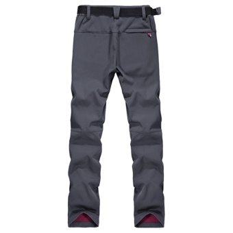 Autumn Men's Thick Thermal Waterproof Windproof Outdoor HikingCamping Cycling Pants(Grey) - intl - 3