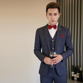 Autumn New style men's suit (Dark blue color)