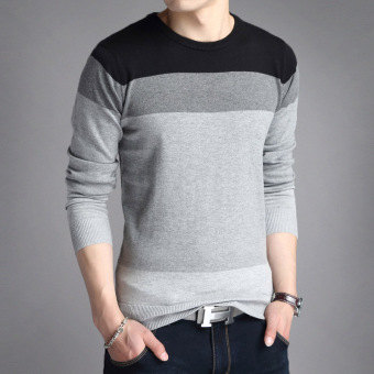 Autumn New style v-neck men's T-shirt (803 black)