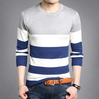Autumn New style v-neck men's T-shirt (8328 gray)