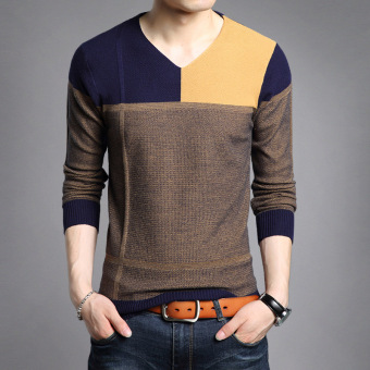 Autumn New style v-neck men's T-shirt (8332 PARK'S)