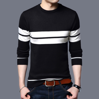 Autumn New style youth men's T-shirt (Black)