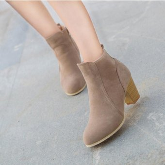 Autumn Winter Boots With High Heels Boots Shoes Martin Boots WomenAnkle - intl - 5