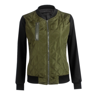 Autumn Winter Casual Bomber Zipper Quilted Jacket Coat(Greer)