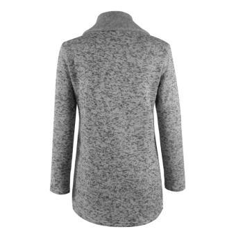 Autun Winter Clothes War Fleece Jacket Slant Zipper Collared Coat - 4