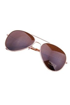 Aviator Metal Sun Glasses Golden and Coffee
