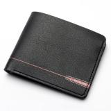 Baellerry Short Wallet Casual Men Cross Section Multifunctional Wallet Poker Pu Leather Wallet Soft -Black - intl