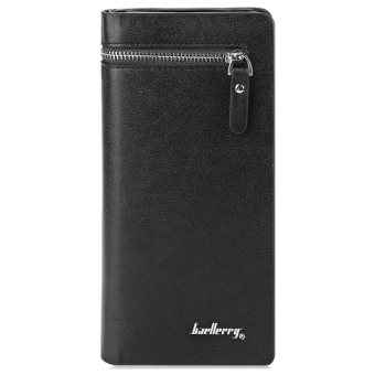 Baellerry Solid Color Cell Phone Money Photo Card Clutch Wallet for Men - 2