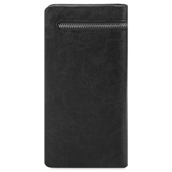 Baellerry Solid Color Cell Phone Money Photo Card Clutch Wallet for Men - 3