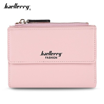 Baellerry Stylish PU Leather Card Holder Short Wallet Coin Purse for Women - intl