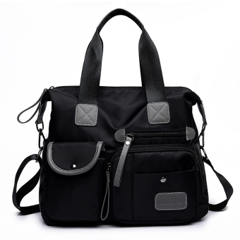 Bag New style nylon cloth bag women's bag (Black M1733)