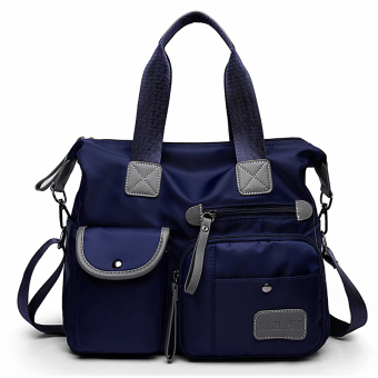 Bag New style nylon cloth bag women's bag (Blue M1733)