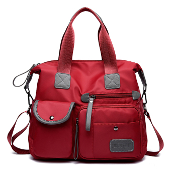 Bag New style nylon cloth bag women's bag (Red M1733)