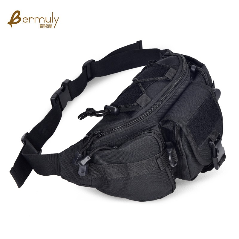 Baimulin outdoor running riding big sports chest pack running bag (Black)