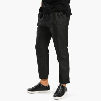 Baleno Mens Chambray Jogger Pants (Black)