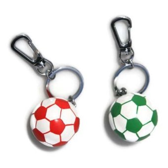 Bambinata 3D-Soccer Ball Snap-On Keychain Set of 2
