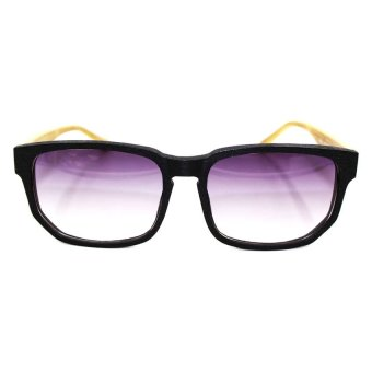 Bamboo Wooden Shades/Sunglasses (Black/Brown) - picture 2