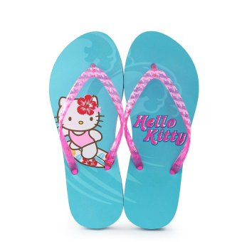 Banana Peel Hoku Hello Kitty Tropic-Oh Flip Flops with Free HelloKitty Ecobag (Aqua) Price Philippines