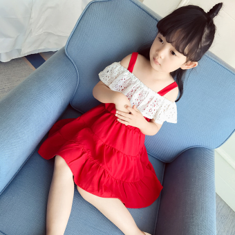 Baobao Korean-style New style children's summer dress girls dress