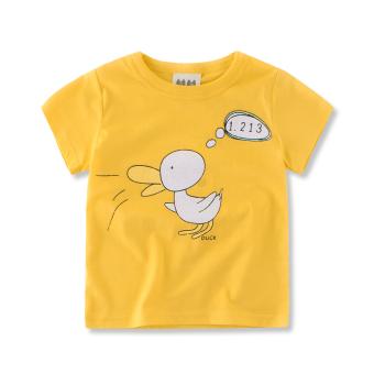 Baobao Korean-style New style round neck boy's summer Top T-shirt (B9002