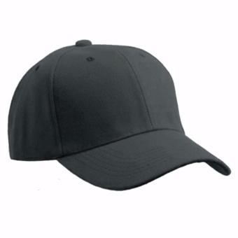 Baseball Cap Sports Golf Solid Hat For Men/Women Grey
