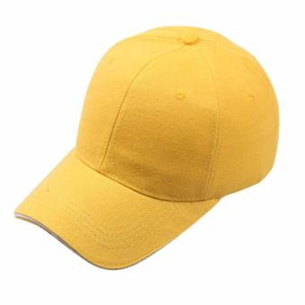 Baseball Cap Sports Golf Solid Hat For Men/Women Yellow