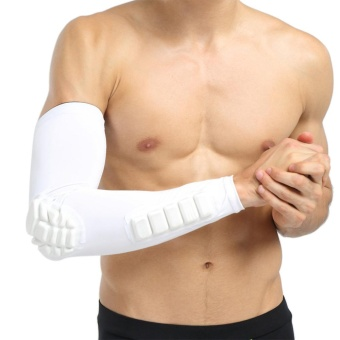 Basketball Football Shooting Extended Single Arm Elbow Sleeve PadProtector Support - intl