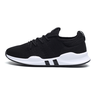 BayMini Korean-style breathable shoes New style sports shoes (7057 black)