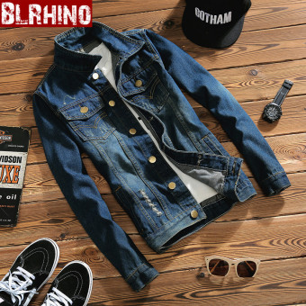 Beilexiniu Japanese-style spring and summer New style men's cowboy coat