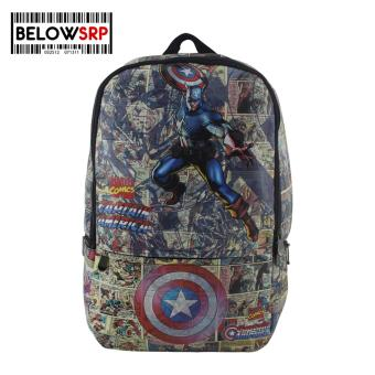 Below SRP Superhero Backpack Captain America Character Bag
