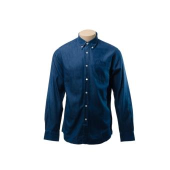 BENCH- ILP0107DB2 Men's Long Sleeve Polo Shirt (Denim Blue)
