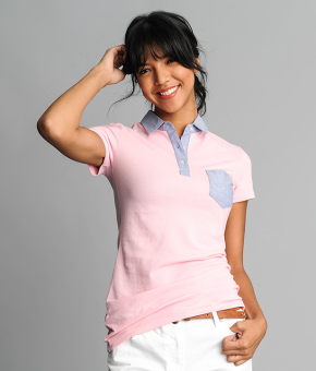 BENCH Ladies Pastel Polo Tee