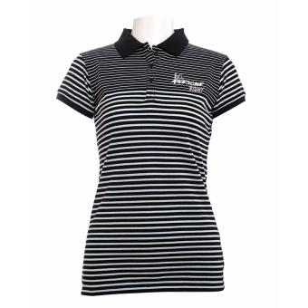 BENCH- YCL0492BK3 Ladies Striped Polo Shirt (Black)