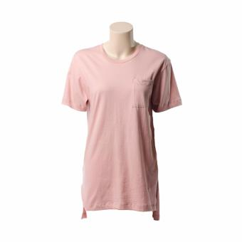 BENCH- YFS1183PI2 Ladies' Plain Tee with Long Back (Mellow Rose)