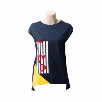 BENCH- YTF1824BU4 Ladies Graphic Tee with Long Back (Navy Blue)