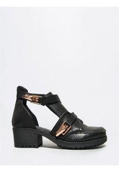 Berca Phoebe Side Cut Out Buckle Ankle Booties (Black) - picture 2