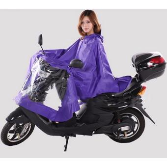 Better Goods High quality oxford fabric raincoat for motorcycleriders motorcycle riders men raincoat for heavy rain Pvc waterproofraincoat Cm-28 (PURPLE)