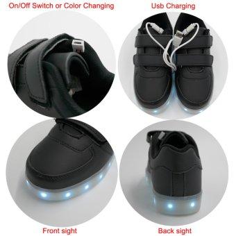 Bevoker 7 Color 11 Mode LED Light Up Shoes for Kids Boys - intl - 4