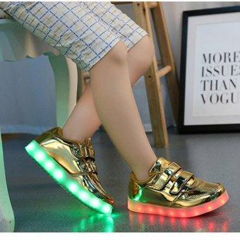 Bevoker USB Charging Lighted Colorful LED lights Children Shoes -intl - 2
