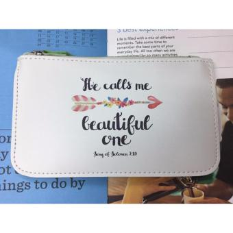 Bible Verse Cellphone/Lady's Accessories Pouch HE CALLS ME BEAUTIFUL ONE Song of Solomon 2:10
