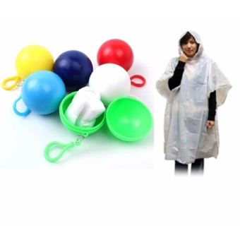 Big Bash Emergency Raincoat with Ball Case with Hook (color mayvary) Price Philippines