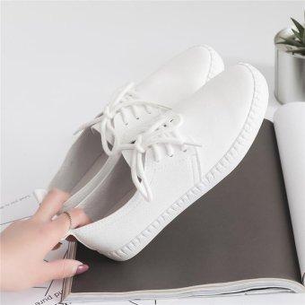 BIGCAT New breathable white shoes wild Korean white sneakers forwomen - intl - 3