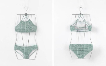 Bikini sexy gather apron straps swimsuit bikini (Forest Green (split))