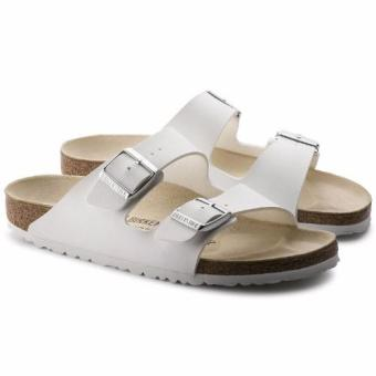 Birkenstock Arizona Birko-Flor Flat Slippers (White)