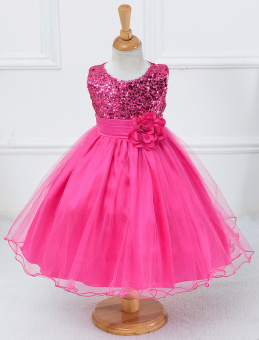 Birthday Party Princess Dress for Kids-Rose - intl